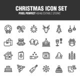 CHRISTMAS ICON SET vector illustration