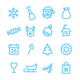 Christmas icon set. Christmas icons set. Xmas and winter holidays vector elements. Flat design Stock Images