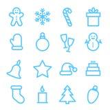 Christmas icon set. Christmas icons set. Xmas and winter holidays vector elements. Flat design Stock Photography