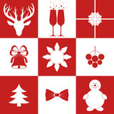 Christmas. Icon Set Stock Photography