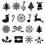 Christmas icon set. Isolated on white Royalty Free Stock Photo