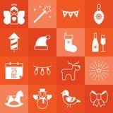 Christmas icon set Royalty Free Stock Photo