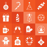 Christmas icon set Stock Image