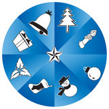 Christmas Icon Set and new year gift Royalty Free Stock Photo