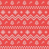 Christmas icon set seamless geometric pattern. Christmas and winter holidays elements background. Flat design vector texture. Christmas icon set seamless royalty free illustration