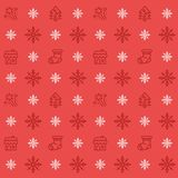 Christmas icon set seamless pattern. Christmas and winter holidays icons background. Flat design vector texture. Christmas icon set seamless pattern vector illustration