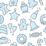 Christmas icon set seamless pattern Stock Photography