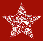 Christmas icon set in star shape Stock Images
