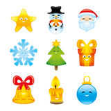 Christmas icon set. Stock Image