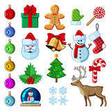 Christmas icon set royalty free illustration