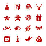 Christmas icon set 2, vector eps10 Royalty Free Stock Photo