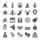 Christmas icon set, vector eps10 Stock Image