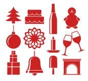 Christmas. Icon set Royalty Free Stock Image