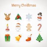 Christmas icon set Royalty Free Stock Photos