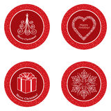 Christmas icon set. Winter label  collection. Christmas Icons/Objects set. Christmas symbols  collection Stock Photography