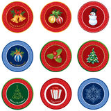 Christmas icon set. Winter New Year Holiday Decor   collection. Stock Photos