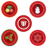 Christmas icon set. Winter New Year Holiday Decor   collection. Stock Image