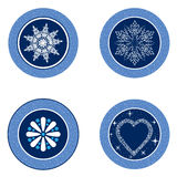 Christmas icon set. Winter snow flakes  collection. Stock Images