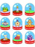 Christmas icon set03 Stock Image