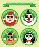 Christmas Icon Sets Stock Photos