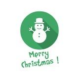 Christmas icon. snowman Royalty Free Stock Photos