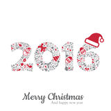 2016 and christmas icon vector illustration Stock Photography
