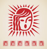 Christmas icon vintage element. Vector Royalty Free Stock Photo