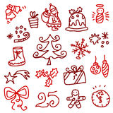 Christmas icons 1 royalty free stock images
