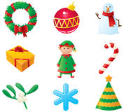 Christmas icons. Set. Part 3 royalty free illustration