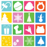 Christmas icons. To be used as christmas web icons, designs and others Stock Photo