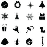 Christmas icons. To be used as christmas web icons, designs and others Stock Photos