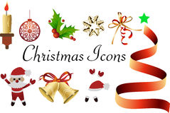 The christmas icons Stock Images