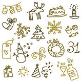 Christmas icons 2 stock images