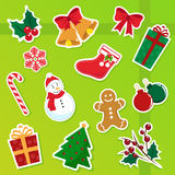 Christmas icons. Collection of cute isolated christmas icons Stock Image