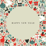 Christmas icons 2013 happy new year Stock Photos
