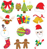 Christmas icons. A vector illustration of a collection of Christmas icons Stock Images