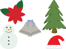 Christmas Icons. On a white background Vector Illustration