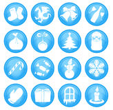 Christmas icons. Christmas and New Year icons set Royalty Free Stock Photography