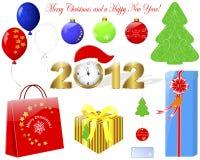 Christmas icons. Stock Image