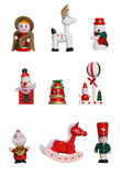 Christmas Icons. Nine colorful Christmas icons isolated over white Stock Photos