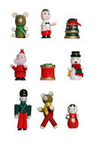 Christmas Icons. Nine colorful Christmas icons isolated over white Royalty Free Stock Photo