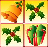 Christmas icons. Vector illustration of Christmas icons, layered, easy to remove backgrounds Stock Photo