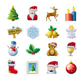Christmas icons. A collection of Christmas icons isolated on a white background Stock Photos