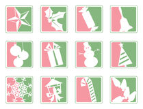 Christmas Icons. Set of 12 Christmas icons Royalty Free Stock Photo