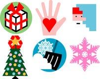 Christmas icons. Set of Christmas and holiday-related icons Royalty Free Stock Image