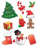 Christmas icons. Royalty Free Stock Photos