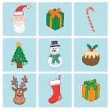 Christmas Icons Royalty Free Stock Photo