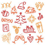Christmas icons 3 stock photos