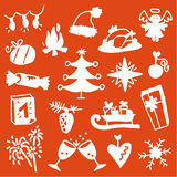 Christmas icons 3 Royalty Free Stock Photos