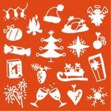 Christmas icons 3 Royalty Free Stock Photos